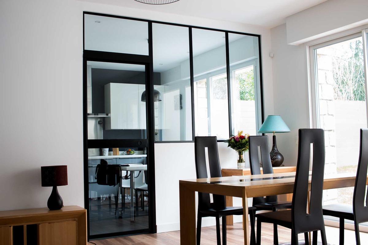 A Quelle Hauteur Poser Une Verriere verrière intérieure : cloison, porte, cuisine | verrière factory