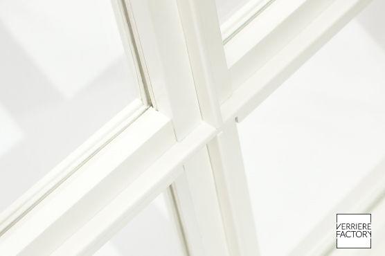 détail verrière classique blanche