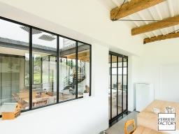 Projet Martin - Verriere atelier posée sur placo