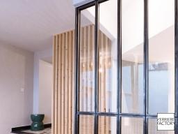 Projet Grosdemange : Verrière entrée avec claustra