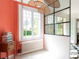 Projet Frecahult : Verrière noire de style loft
