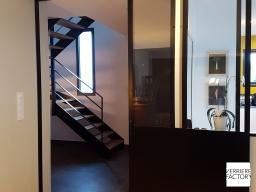 Projet Courtais : Porte atelier noire