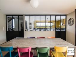 Projet Courtais : Verriere atelier salle à manger