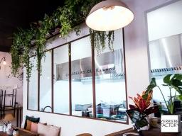 Verrière atelier industrielle pour restaurant