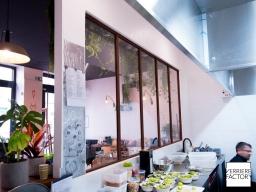 Verrière cuisine de restaurant à paris 17ème