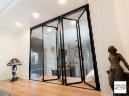 Projet Chevalier : fenêtre verrière en ouverture accordéon