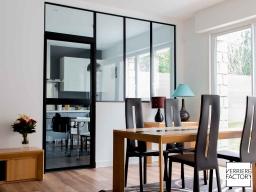 Projet Lionnet : verrière séparation cuisine salle à manger