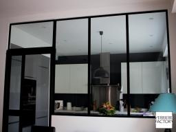 Projet Lionnet : verrière atelier cuisine en acier