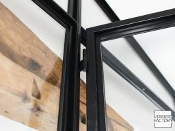 Projet Fourel : Paumelle de porte verrière acier sur mesure