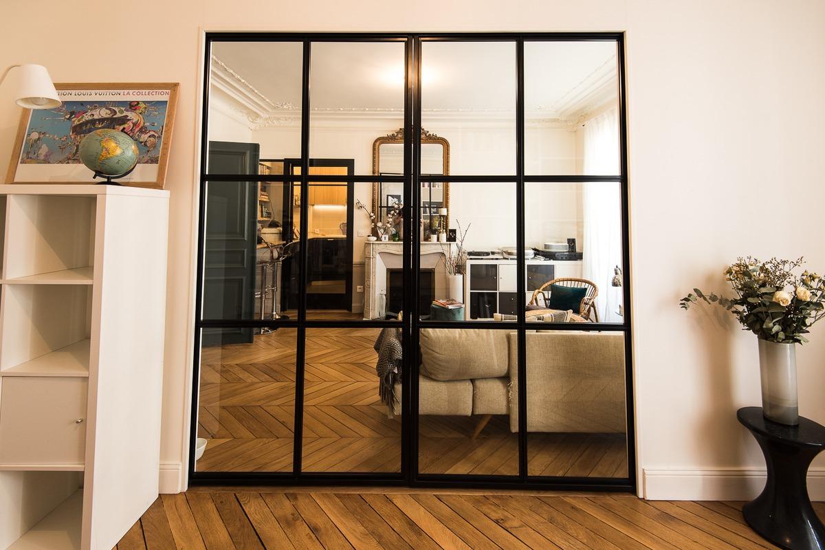 Porte Separation Salon Cuisine photo verrière : réalisations de verrière | verriere factory