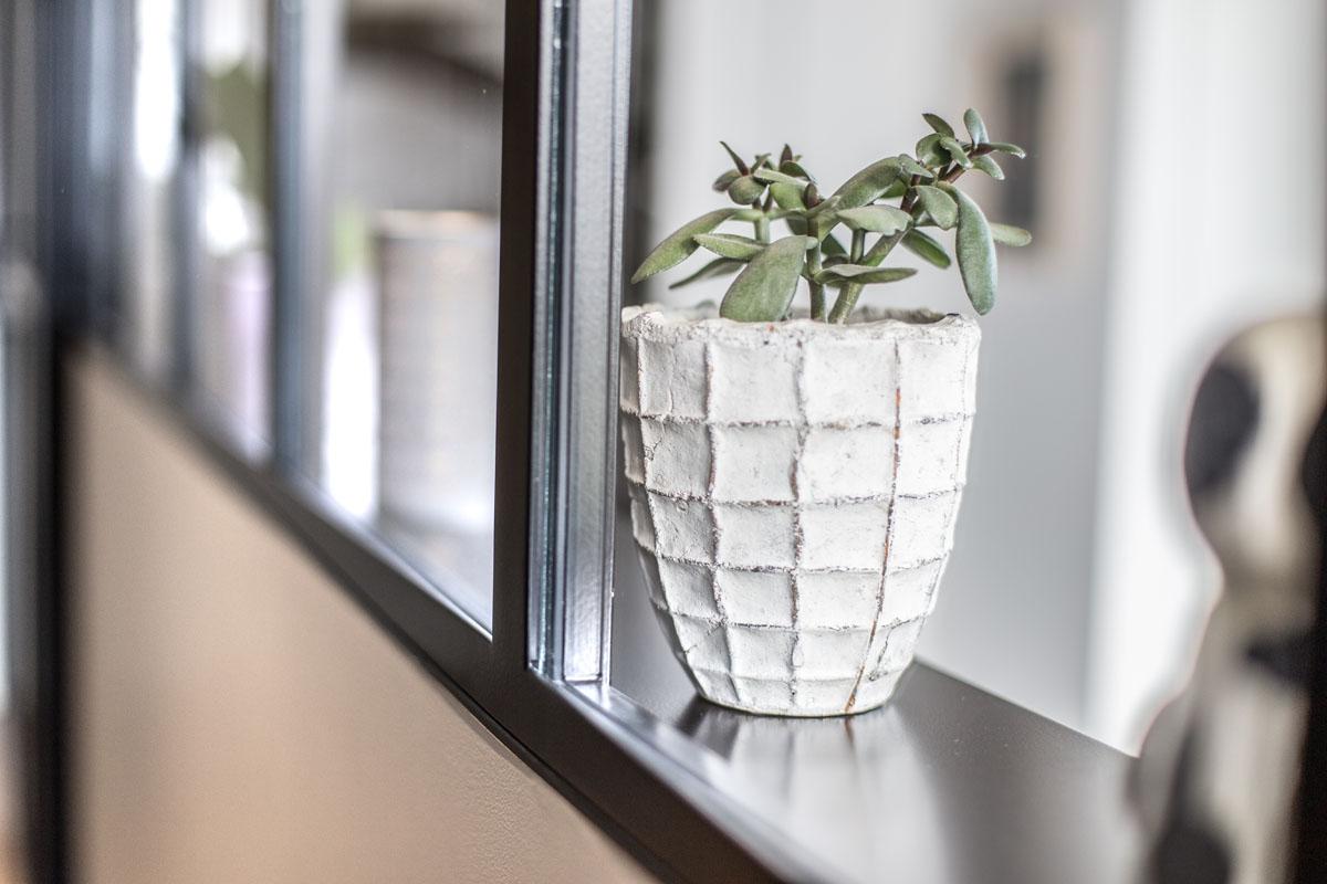 Verrière intérieur avec vitrage transparent